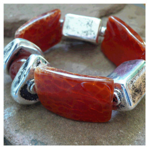 Achat-Perlen-Armband