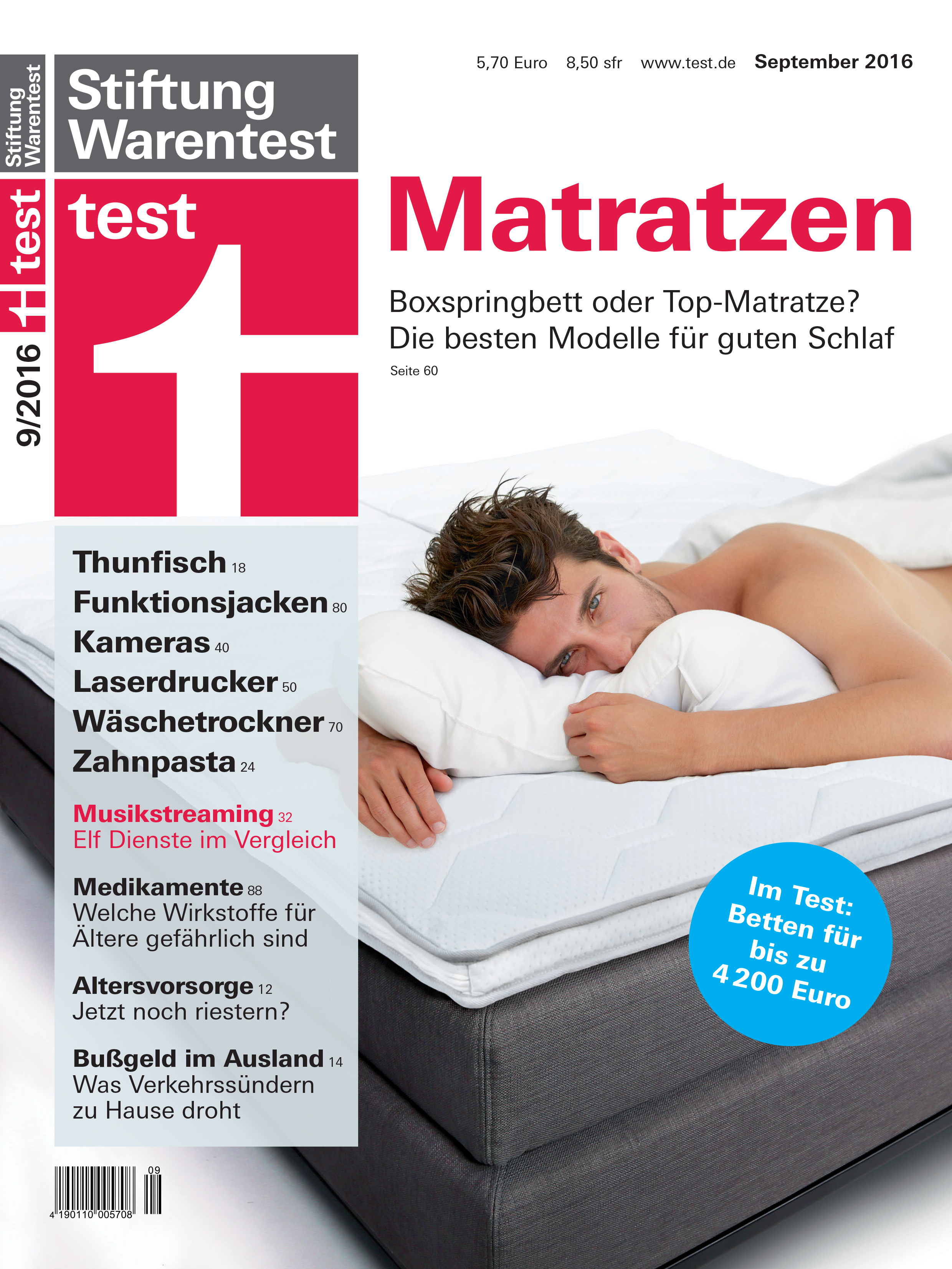 test 2016 von stiftung warentest boxspringbetten stiftung warentest. Black Bedroom Furniture Sets. Home Design Ideas